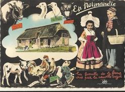 En Normandie La Famille (cpsm Gf ) 103 - Basse-Normandie