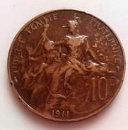 10 CENTIMES DUPUIS 1911  N°165 D - France