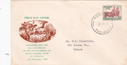 Australia 1953 25th Anniversary Of Young Farmers Club Addressed FDC - FDC