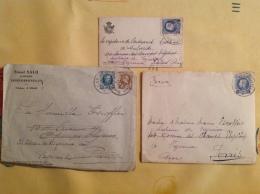 3  Lettres Pour Reyrieux Dont Ernest Salu Statuaire Laeken Bruxelles - Storia Postale