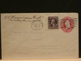 """63/420  ENV. USA  POUR LA SUISSE  """"SS CECILIE""""  1909"""