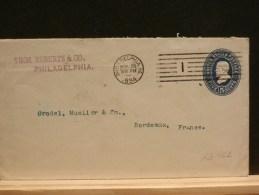 63/422   ENV.  . USA  TO FRANCE   1894