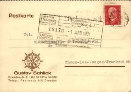 ALLEMAGNE - Carte Commerciale De Dresden Pour La France En 1931 - A Voir - L 4309 - Deutschland