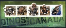 Canada 2015 Fauna, Prehistoric Animals, Dinosaurs, Unusual 3D Stamps
