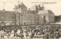 Cpa Coulonges Sur L'autize Le Marche Aux Bestiaux - Coulonges-sur-l'Autize