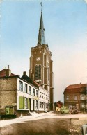 MONS EN PEVELE - Eglise Saint Jean Baptiste, La Poste. - Poste & Facteurs