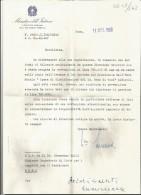B2V29--  ITALIA,  VARIE,   MINISTERO DELL'INTERNO,   CRESCENZO MAZZA,   1968, - Autographs