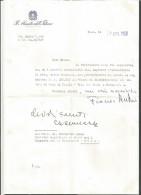 B2V30--  ITALIA,  VARIE, -STORIA POSTALE-  MINISTERO DELL'INTERNO,   CRESCENZO MAZZA,   1968, - Autographs