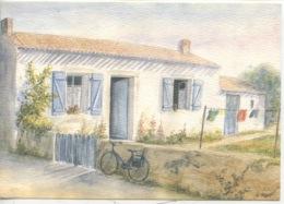 """Une Sublime Chaleur Bleue"""" Paul Eluard - Aquarelle D. Lebeau (ed Ouranos) - Ile De Ré"""