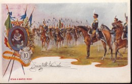 REGGIMENTALI MILITARI -  LANCIERI VITTORIO EMANUELE II /  CAVALLERIA / CAVALLEGGERI  - SX402 - Regimenten