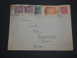 ALLEMAGNE - Enveloppe Pour Genève En 1922 , Affranchissement Multiple - A Voir - L 4328 - Allemagne