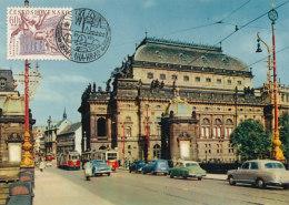 D26262 CARTE MAXIMUM CARD 1964 CZECHOSLOVAKIA - NATIONAL THEATRE PRAG CP ORIGINAL - Architecture