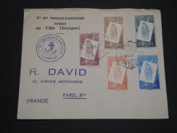 ESPAGNE - Enveloppe Commerciale ( Cie Générale Transatlantique ) De Vigo Pour La France En 1957 - A Voir - L 4330 - 1951-60 Cartas