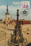 D26265 CARTE MAXIMUM CARD 1967 CZECHOSLOVAKIA - TOWN HALL OLOMOUC CP ORIGINAL - Architecture