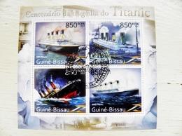 Guine-Bissau 2011 Ship Ships  S/S  Transport Titanic Rms Tragedia Iceberg - Guinea-Bissau