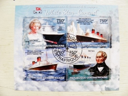 Republique Centrafricaine 2013 Ship  S/S  Transport Cruise Ships Titanic Queen Elisabeth II White Star-cunard - Repubblica Centroafricana