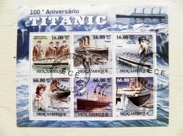 Mozambique 2011 Ship Ships  S/S  Transport Titanic Rms Tragedia Iceberg 100 Anniversary - Mozambico