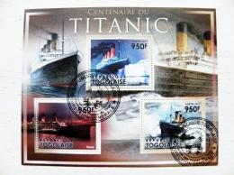 Togo Togolaise 2011 Ship Ships  S/S  Transport Titanic Rms Tragedia Iceberg 100 Anniversary - Togo (1960-...)