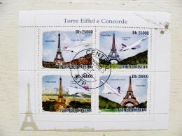 S.Tome E Principe 2010  S/S  Transport Torre Eiffel E Concorde France Paris Avion Airplane Tower Plane - Sao Tomé E Principe