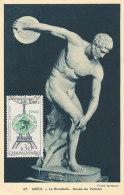 D26267 CARTE MAXIMUM CARD RR 1965 CZECHOSLOVAKIA - LE DISCOBOLE OLYMPICS CP ORIGINAL