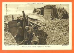"""Les Poilus Veillent """" Abri Et Poste Avancé à Proximité Du Rhin """" CPSM GF - War 1939-45"""