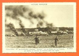 """Victoire Française """" Un Bombardier Allemand Heinkel Abattu Par Les Français """" CPSM GF - War 1939-45"""