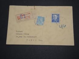 FRANCE - Enveloppe En Recommandé De Neuilly Sur Seine En 1944 Pour Paris - A Voir - L 4345 - Marcophilie (Lettres)