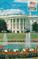 D26278 CARTE MAXIMUM CARD FD 1968 USA - WHITE HOUSE WASHINGTON CP ORIGINAL - Maximum Cards
