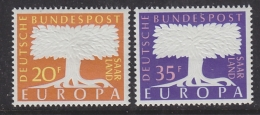 Europa Cept 1957 Saarland 2v  ** Mnh (32799A) - 1957