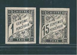 Colonie Taxes De 1884  N°1 Et 7  Neufs *
