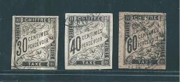 Colonie Taxes De 1884  N°9 A 11  Oblitérés Cote 40€