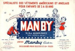Buvard Vêtements Américains Pour Enfants MANBY Rue Auber à Paris - Textile & Clothing