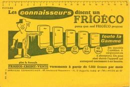 Buvard Les Connaisseurs Disent Un FRIGECO - Wash & Clean