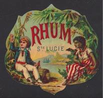 Etiquette De Rhum  Saint Lucie  -  A. Després Paris - Rhum