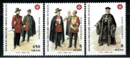 *B10* -  SMOM 1998 - Antiche Uniformi Dell' Ordine. 9° Serie - 3 Val. MNH** - Perfetti - Sovrano Militare Ordine Di Malta