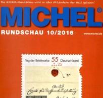 MICHEL Briefmarken Rundschau 10/2016 Neu 6€ New Stamps Of The World Catalogue/magacine Of Germany ISBN 978-3-95402-600-5 - Documentos Antiguos