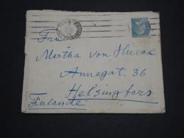 FRANCE - Type Pasteur Seul Sur Enveloppe Pour La Finlande En 1928 - A Voir - L 4368 - Marcophilie (Lettres)