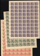 SBZ-Bogen ,Nr.87-89B,viele Plattenfehler,xx  (M4) - Sowjetische Zone (SBZ)
