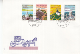 Zwitserland - FDC 4-9-1987 - 200 Jahre Tourismus - M 1354-1357 - Vakantie & Toerisme