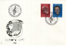 Zwitserland - FDC 7-5-1985 - Europa/CEPT: Europäisches Jahr Der Musik - M 1294-1295 - FDC