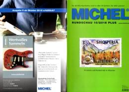 Briefmarken Rundschau MICHEL 10/2016-plus Neu 6€ New Stamp Of World Catalogue/magacine Of Germany ISBN 978-3-95402-600-5 - Tedesco
