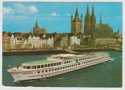 D - BATEAUX Bateau Kabinenschiff MS BRITANNIA Köln Düsseldorfer Deutsche Rheinschiffahrt Schiff Boat Ship - Paquebots