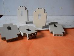 Légo Demi Mur De Chateau Déco Grise Claire - Lego System