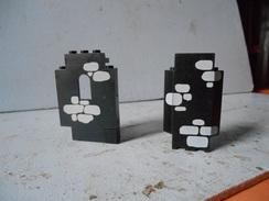 Légo Demi Pièce De Chateau Déco Pierre Noire - Lego System