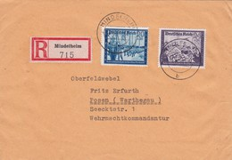 ALLEMAGNE 1944 LR DE MINDELHEIM SANS CACHET ARRIVEE - Covers & Documents