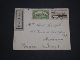 FRANCE / ALGÉRIE - Enveloppe Pour La France Avec Cachet Contrôle Militaire Sur Les Timbres  - A Voir - L 4393 - Algérie (1924-1962)