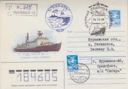 Russia 1988 Atomic Icebreaker Registred Cover Murmansk (32805) - Poolshepen & Ijsbrekers