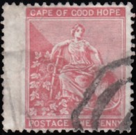 """CAPE OF GOOD HOPE - Scott #43 """"Hope"""" / Used Stamp - Great Britain (former Colonies & Protectorates)"""
