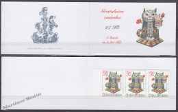 Czech Republic - Tcheque 2001 Yvert C276 Greetings - Cat With Kitten - Booklet - MNH - Tchéquie