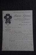 Lettre Ancienne Publicitaire , BOURGES - Laboratoire D'Analyses Chimiques , Pharmacien Maurice LEPRINCE. - 1800 – 1899